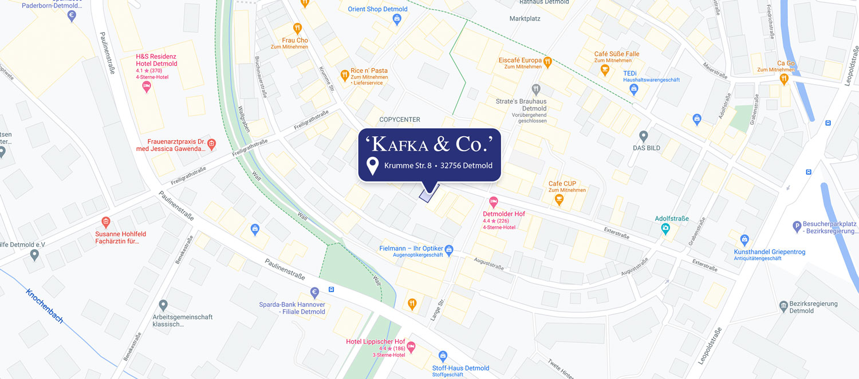 Anfahrt zu 'KAFKA & Co'